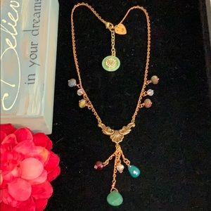 ✨Adorned Crown faceted bead copper petite necklace